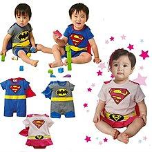 ohmybaby 嬰兒連身衣 男寶寶 女寶寶 短袖平角 超人 蝙蝠俠 服 哈衣爬服 包屁