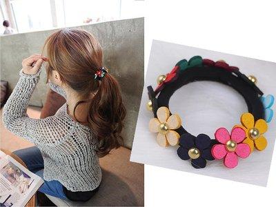 851 韓國直送-彩色小花朵髮束