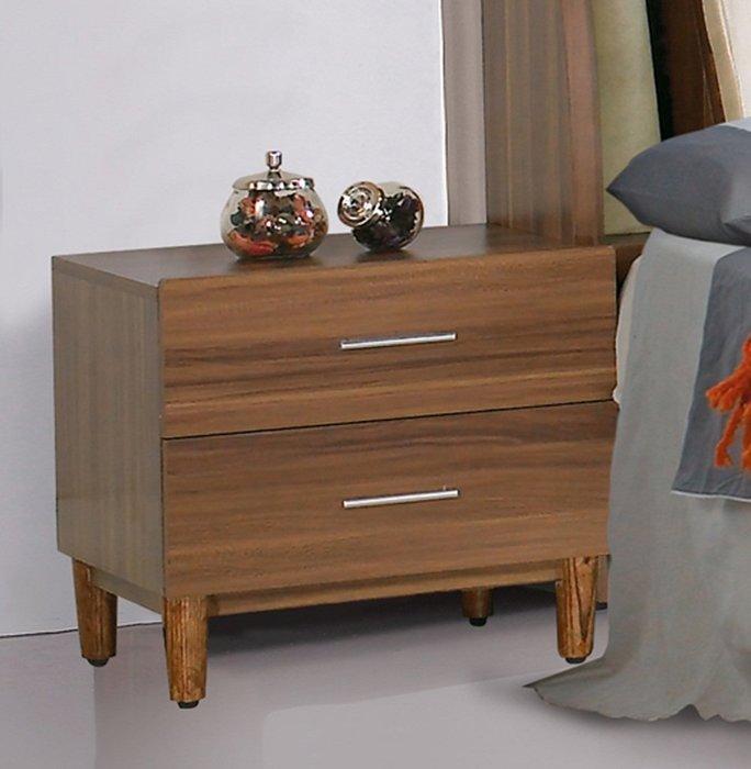 【DH】商品貨號N557-1商品名稱《巴卡》胡桃床頭櫃。沉穩俐落經典。主要地區免運費