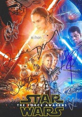 Star Wars星球大戰明星簽名