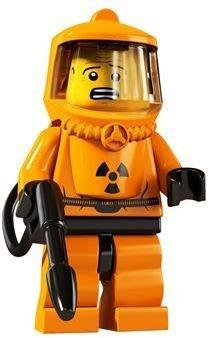 現貨【LEGO 樂高】玩具 積木/ Minifigures人偶包系列: 4代 8804 單一人偶: 橘色核能人 輻射人