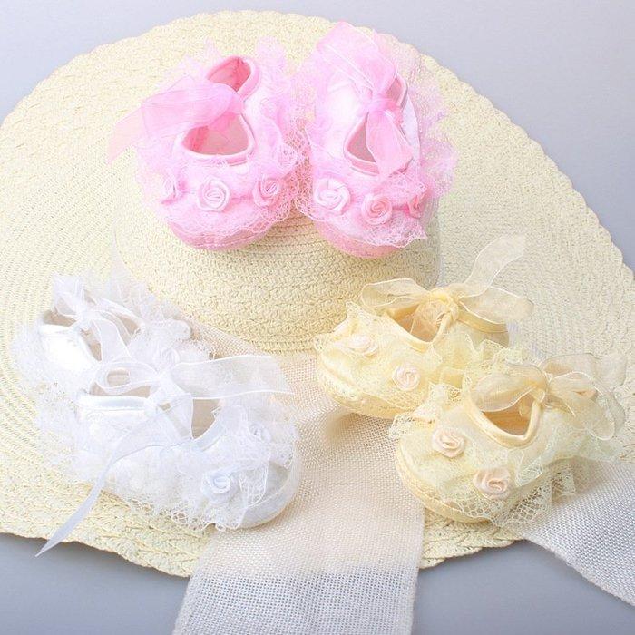 蕾絲嬰兒鞋 學步鞋 女寶寶鞋❤❤Moira shop 莫依拉❤❤