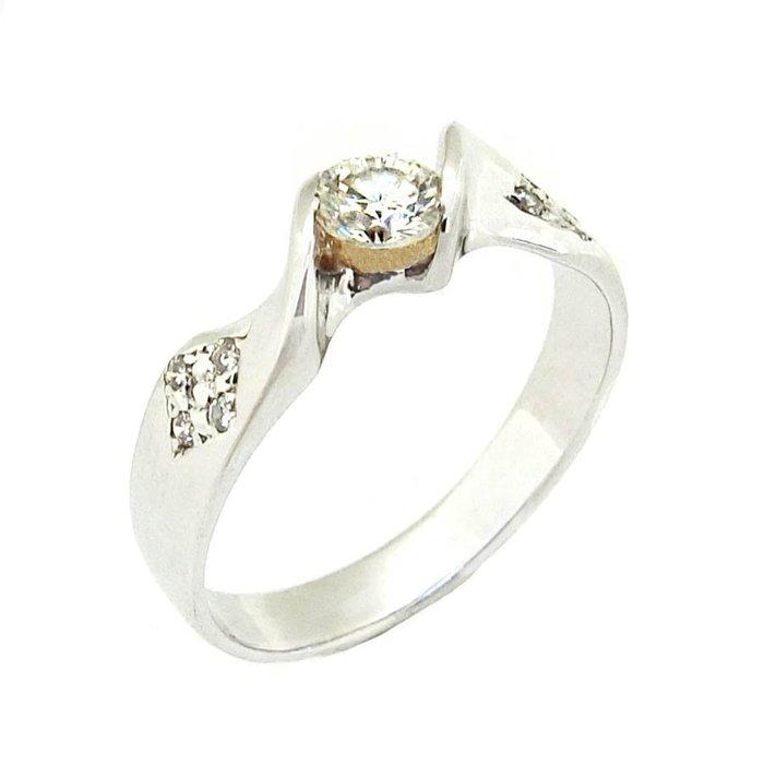 【JHT 金宏總珠寶/GIA鑽石專賣】0.24ct天然鑽石戒指/材質:14K(D000212)