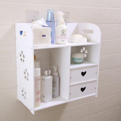 東大門平價鋪   衛浴間免打孔收納置物架,浴室廁所洗漱台馬桶上化妝品壁掛置物用具