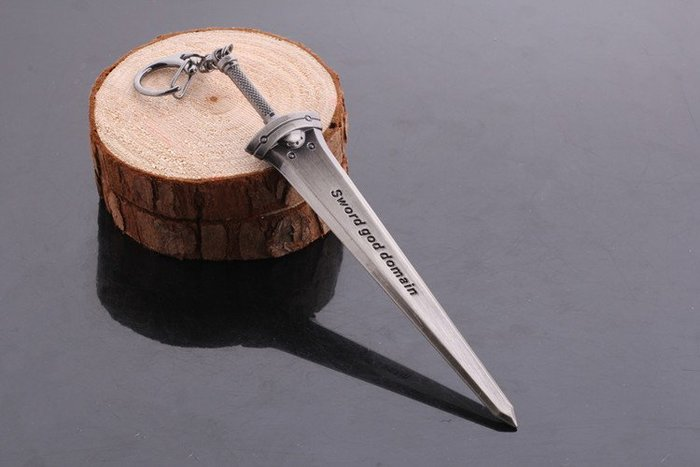 人氣熱銷動漫周邊 刀劍神域 鑰匙扣 合金武器掛件(贈送刀劍架)