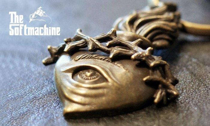 GOODFORIT / 日本品牌Softmachine Mind's Eye Key Chain基督教耶穌聖心黃銅鑰匙圈
