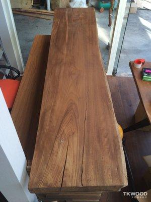 【緬甸柚木-TKWOOD】❤(寬50-54cm) 柚木書桌・原木桌板・柚木吧檯/餐桌・柚木地板・柚木拼板、家具、樓梯板