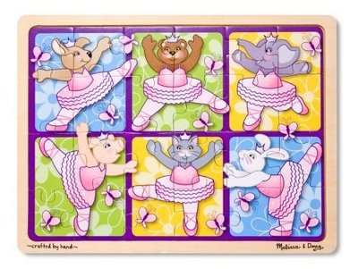 芭蕾小棧生日畢業表演出禮物美國Melissa & Doug 24片木質蝴蝶拼圖
