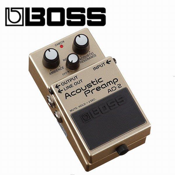 ☆ 唐尼樂器︵☆全新 BOSS AD-2 AD2 民謠吉他 Preamp 前級放大效果器