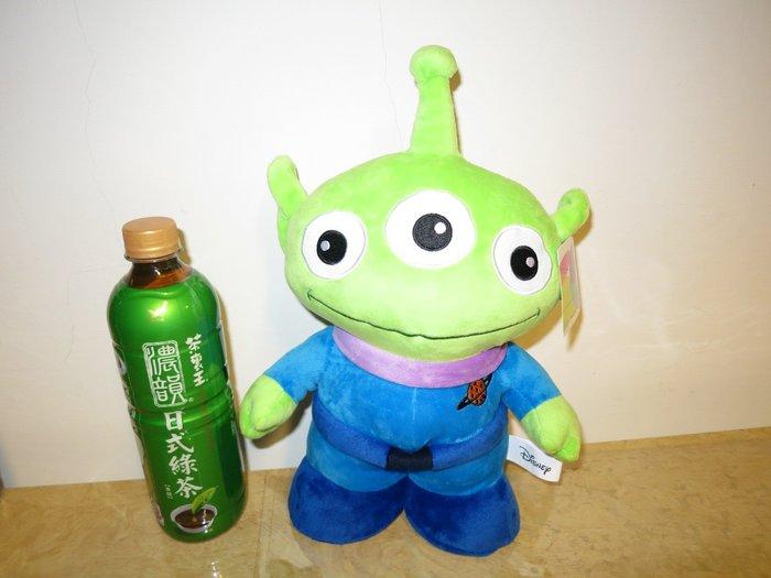 ///可愛娃娃///~中型10吋正版迪士尼玩具總動員~外星人三眼怪站姿絨毛娃娃---約33公分