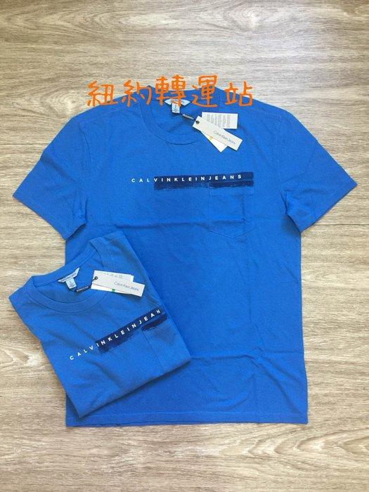 紐約轉運站 : 美國購買 現貨在台  CK Calvin Klein Jeans 男生棉質LOGO小口袋 圓領短T