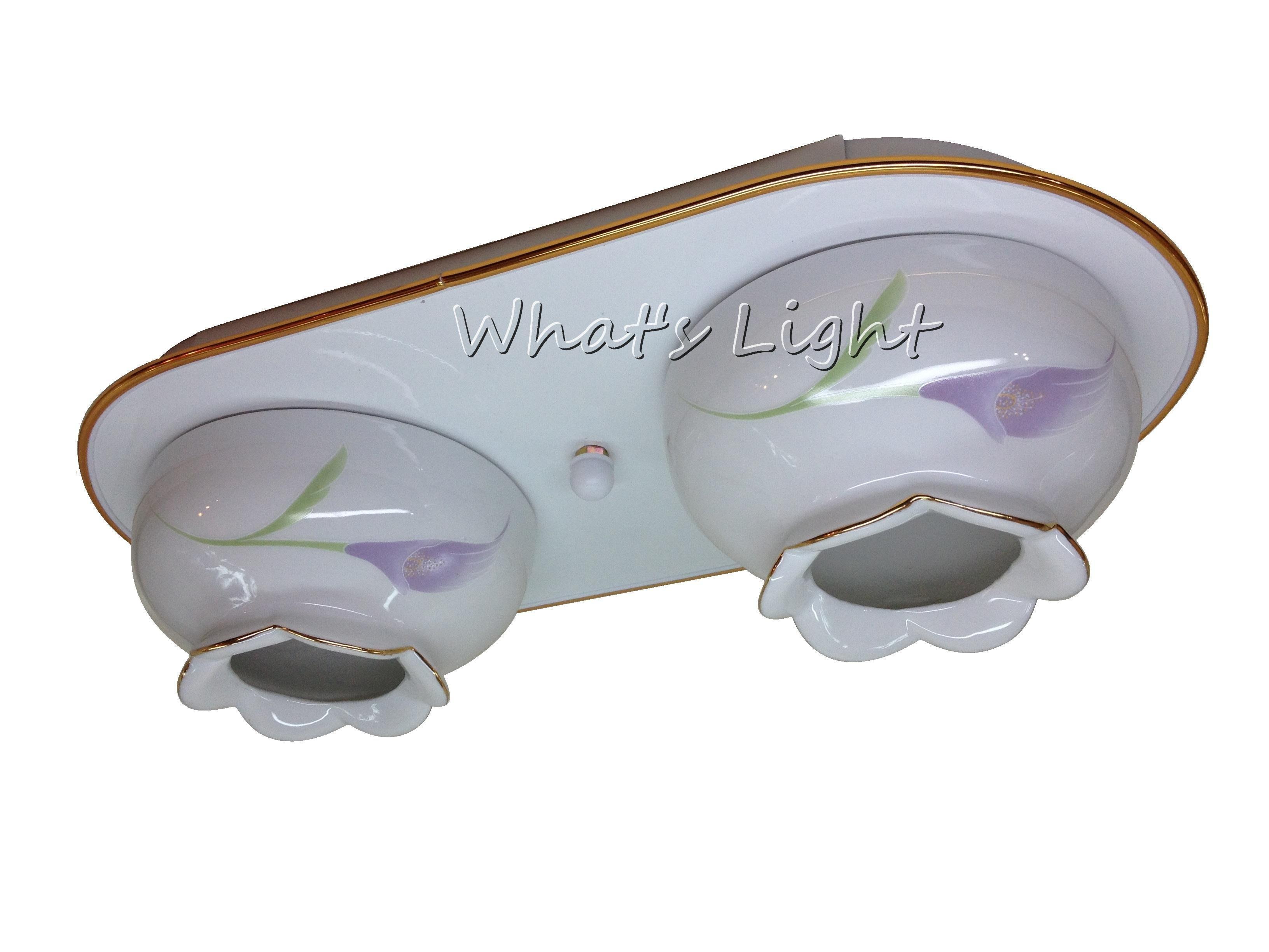 划得來LED燈飾~陶磁罩吸頂燈 E27*2 田園鄉村風格 陶瓷吸頂雙燈 另有5燈 可搭螺旋/LED燈泡 S3472