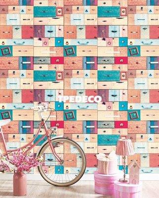 【大台北裝潢】PT馬來西亞現貨壁紙* 環保建材 工業風 蝴蝶畫框 抽屜(2色) 每支580元