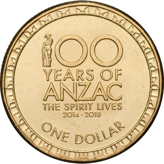 ~幣~澳大利亞 2017年發行 1 dollar 澳紐軍團ANZAC 100周年