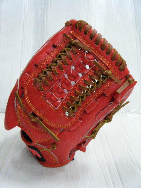 新莊新太陽 HATAKEYAMA HA Professional 棒壘手套 硬式 牛皮 橘紅 投手 單片編網 特3200