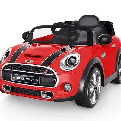 兒童電動車 Mini Cooper S 電動/遙控兩用(紅/白/藍)豪華皮椅版 雙馬達、雙電池