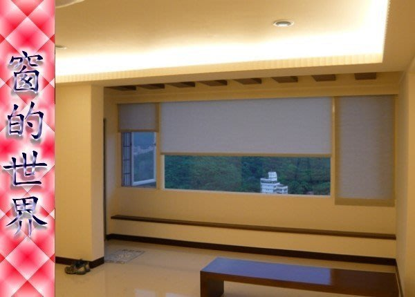 【窗的世界】20年專業製作達人,高度隱密客廳專用捲簾窗簾(透光又高度隱密)
