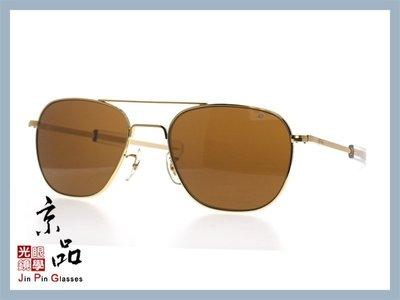 京品眼鏡 AO 美國 飛官太陽眼鏡 OP 57mm G.BA.COS 金/透明色框 茶色玻璃鏡片 公司貨 JPG