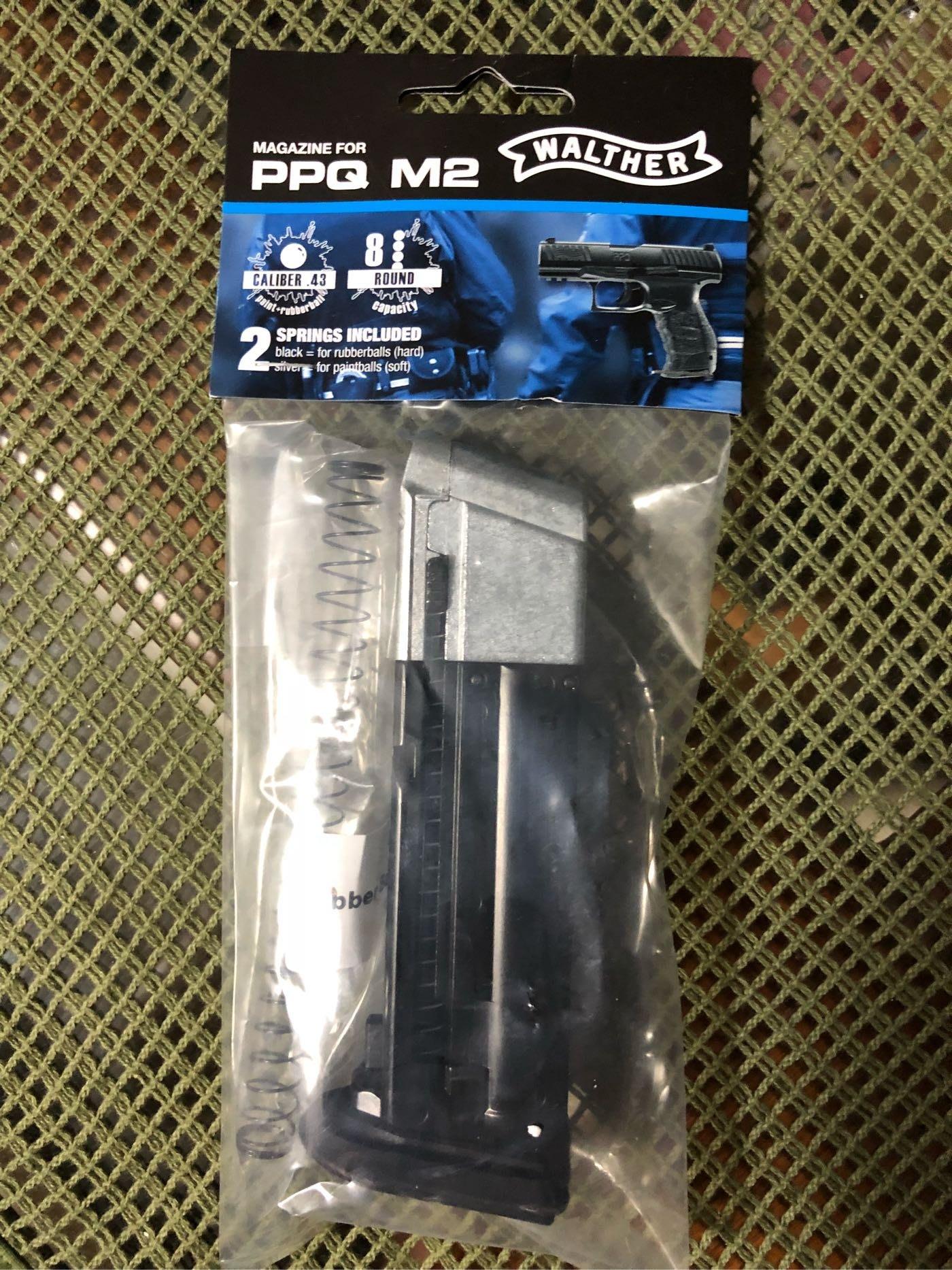 EFA漆彈精品 客製強化版 UMAREX WALTHER 11mm PPQ M2 漆彈鎮暴槍 專用彈匣