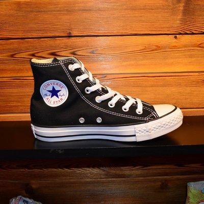 CONVERSE匡威專櫃正品經典款黑色白色高幫帆布鞋101010 101009