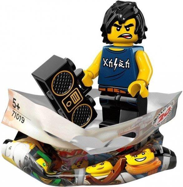 現貨【LEGO 樂高】積木/ Minifigures人偶包系列 忍者電影 71019 | #8 背心阿剛+手提音響