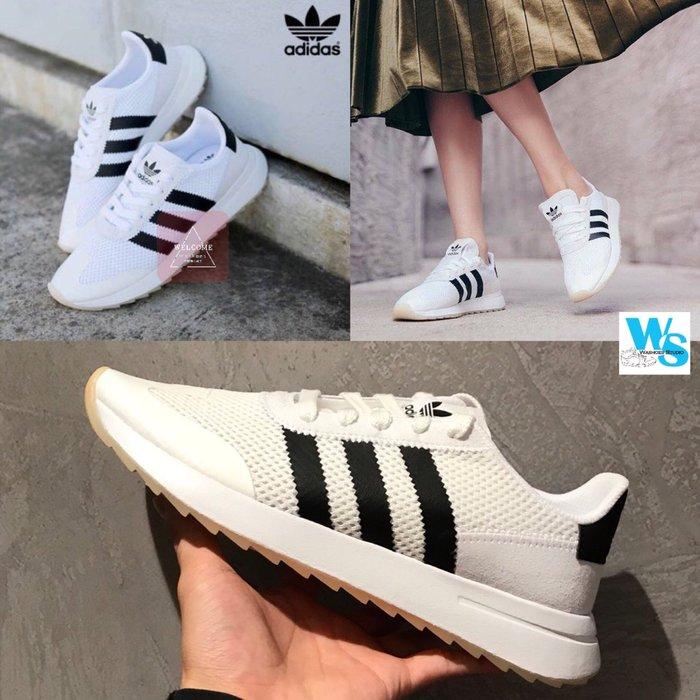 Washoes adidas 女款08 Originals FLB Flashback 白黑 白色 BA7760 李聖經