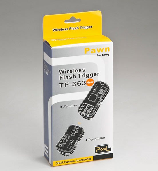 呈現攝影-品色 TF-363無線快門+無線閃燈觸發器2.4G SONY F58/42 喚醒 B快門 離機閃 NCC認證