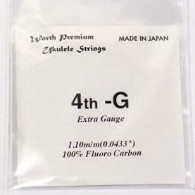 《小山烏克麗麗》日本頂級Worth string 烏克麗麗 Low G弦 C-LGEX (非套弦)
