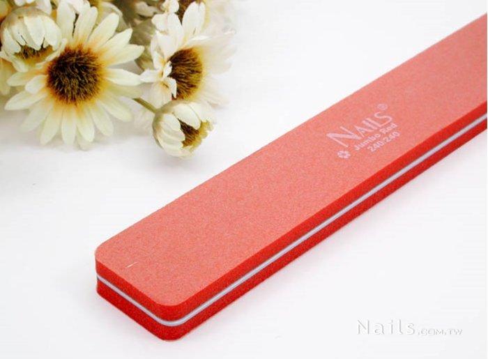 艾薇 Ivy's Nail美甲 ╭*Nails方形磨甲棒- 橘 細緻 240 240 Y2