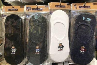 【傳說企業社】韓國直送 USA熊造型隱形男襪 流行時尚 正韓 短襪 腳踝造型襪 運動襪 學生襪 棉襪