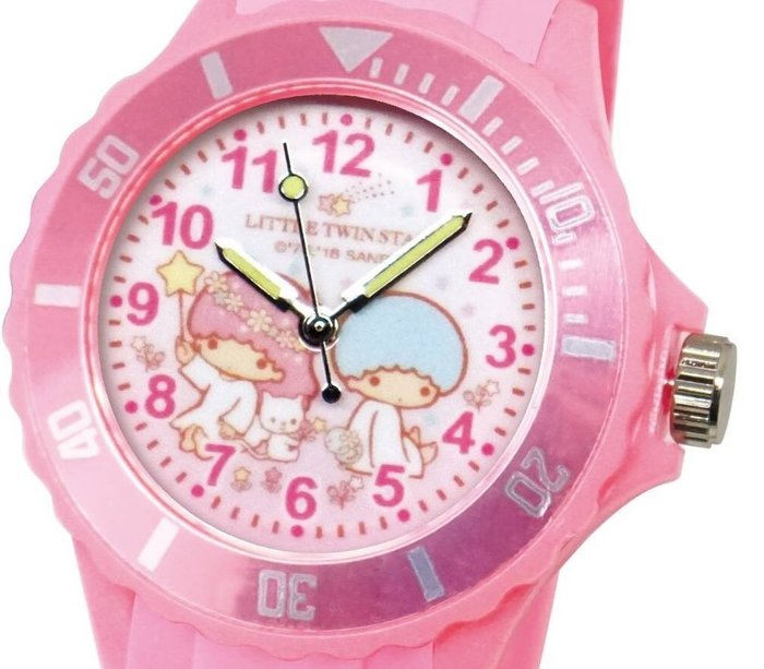 41+ 現貨免運費 三麗鷗 SANRIO 正版授權 雙子星 粉色 日本機芯 童趣卡通錶 兒童錶 運動錶 小日尼三