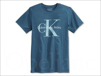 特价899元 Calvin Klein CK 卡文克莱蓝色短袖潮T恤上衣棉短青少年款XL号=大人S/M 爱Coach包包