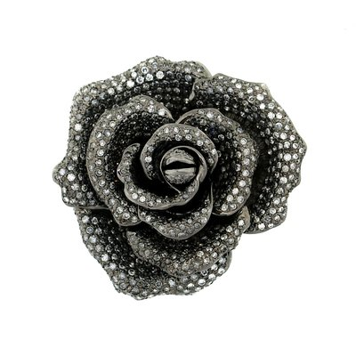 【JHT 金宏總珠寶/GIA鑽石專賣】天然鑽石玫瑰造型胸針/材質:18K(JB44-A08)