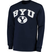 Men's Fanatics Branded Navy BYU Cougars Campus Long Sleeve T-Shirt