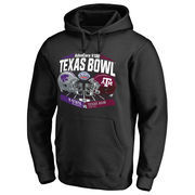 Men's Fanatics Branded Black Kansas State Wildcats vs. Texas A&M Aggies 2016 Texas Bowl Motion Matchup Pullover Hoodie