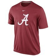 Nike Alabama Crimson Tide Logo Legend Dri-FIT Performance T-Shirt - Crimson