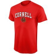 Mens Carnelian Cornell Big Red Arch Over Logo T-Shirt