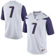 Washington Huskies Nike No. 7 Replica Football Jersey - White