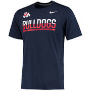 Men's Nike Navy Fresno State Bulldogs Legend Staff Sideline Performance T-Shirt