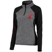 Women's Gray/Black Washington State Cougars Finalist Quarter-Zip Pullover Jacket
