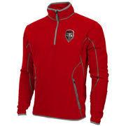 Mens New Mexico Lobos Antigua Red Ice Quarter-Zip Fleece Jacket
