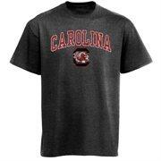 Mens Charcoal South Carolina Gamecocks Arch Over Logo T-Shirt