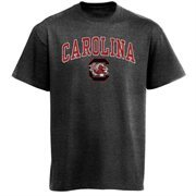 Men's New Agenda Charcoal South Carolina Gamecocks Arch Over Logo T-Shirt