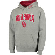 Men's Gray Oklahoma Sooners Arch & Logo Pullover Hoodie