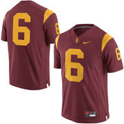 Men's Nike Cardinal USC Trojans No. 6 Limited Football Jersey