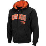 Men's Stadium Athletic Black Oregon State Beavers Arch & Logo Full Zip Hoodie