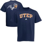 Mens adidas Navy Blue UTEP Miners Relentless T-Shirt