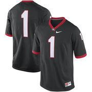 Men's Nike Black Georgia Bulldogs #1 Game Football Jersey