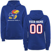 Women's Royal Kansas Jayhawks Personalized Basketball Pullover Hoodie