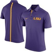 Men's Nike Purple LSU Tigers 2015 Coaches Sideline Dri-FIT Polo